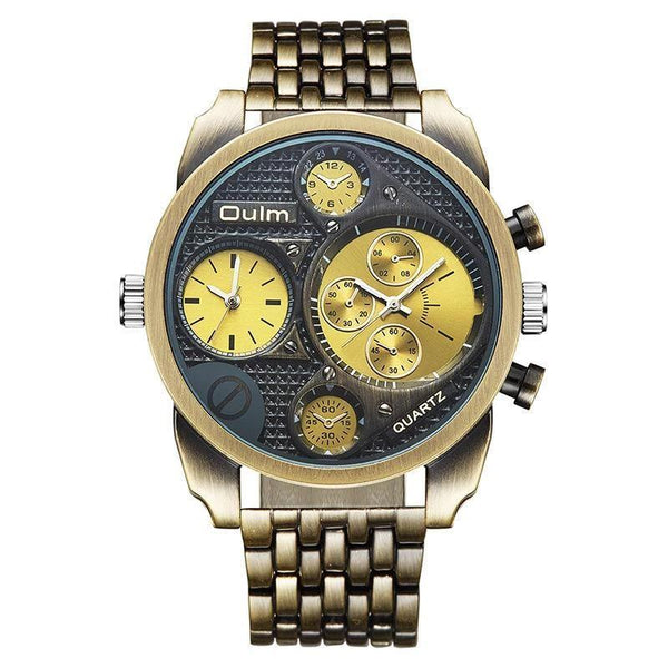 Trendinggate.com OULMEuropean radium manufacturers supply/Classic retro personality men's watch/At two places/Alloy with men's watches wholesale