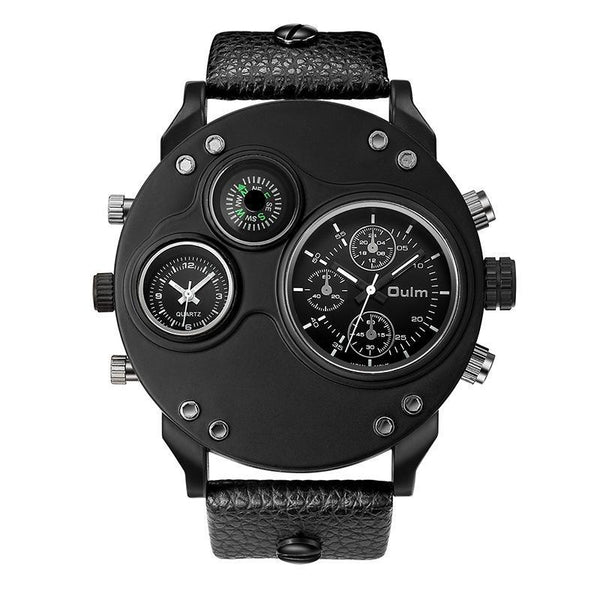 Trendinggate.com black (colour) oulmQuartz compass men's watches explosions brand foreign trade watches HP3741 sports watches