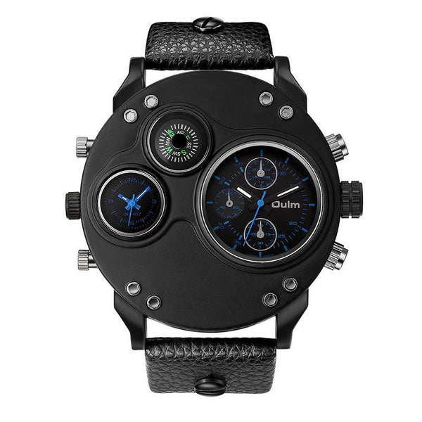 Trendinggate.com blue oulmQuartz compass men's watches explosions brand foreign trade watches HP3741 sports watches