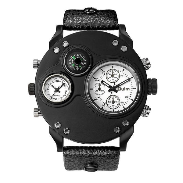 Trendinggate.com white (colour) oulmQuartz compass men's watches explosions brand foreign trade watches HP3741 sports watches