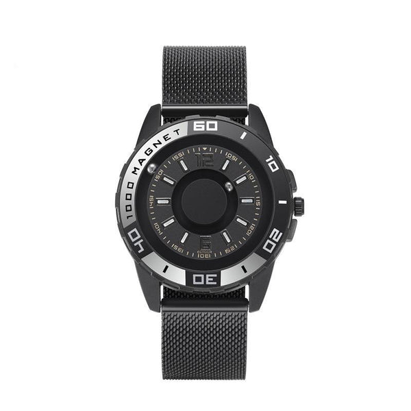 Trendinggate.com Black gray 【Parallel time and space】Magnetic Black Technology Watch Male Trend Creative Ball Student Personality New Concept Female Quartz Watch