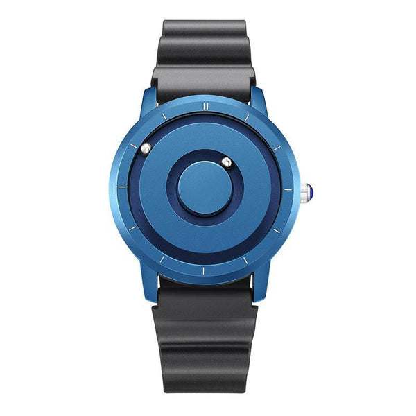 Trendinggate.com Blue 【Parallel time and space】Magnetic Black Technology Watch Male Trend Creative Ball Student Personality New Concept Female Quartz Watch