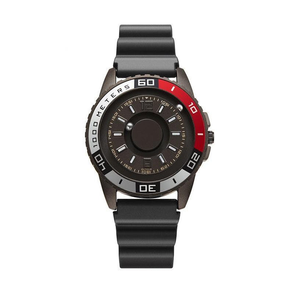 Trendinggate.com Gun Red 【Parallel time and space】Magnetic Black Technology Watch Male Trend Creative Ball Student Personality New Concept Female Quartz Watch