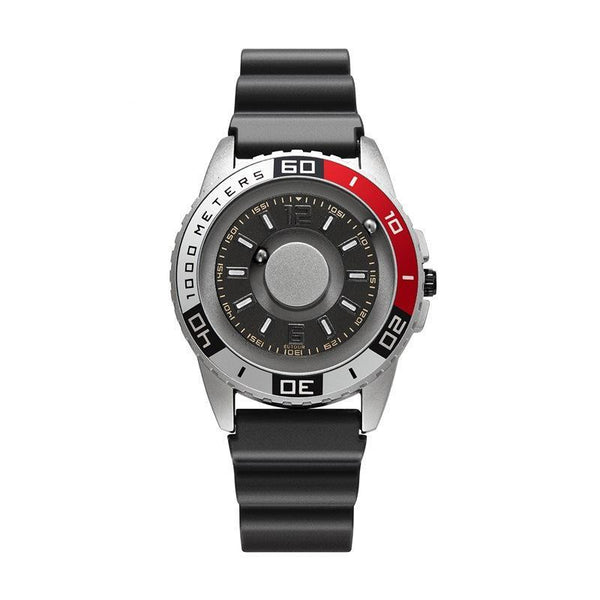 Trendinggate.com Silver 【Parallel time and space】Magnetic Black Technology Watch Male Trend Creative Ball Student Personality New Concept Female Quartz Watch