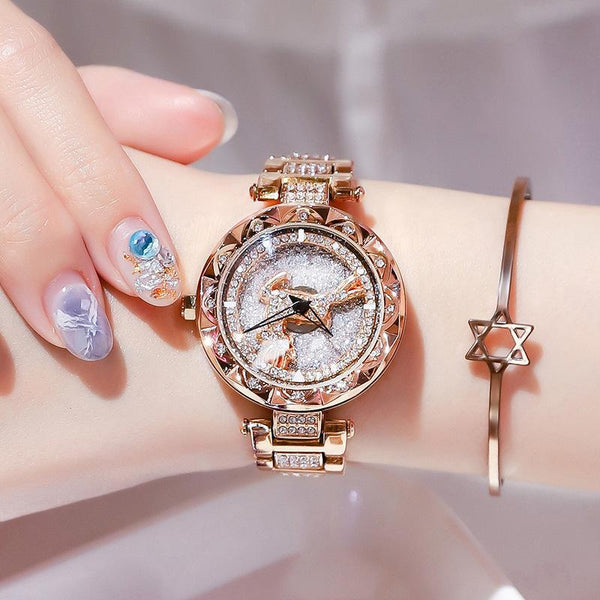 Trendinggate.com There's your rose gold strip all the way. Popular style Yilu Road when you come to run watch women Douyin same network celebrity quartz women watch foreign trade source