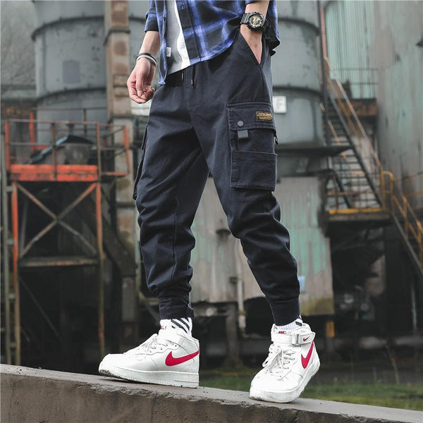 Trendinggate.com Pure cotton leisure pants men's 2019 spring and autumn new Korean version of the trend leisure overalls, body repair, youth tools, pantsuit, trendy, Korean, Korean.