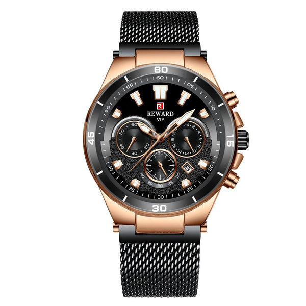 Trendinggate.com Men's Watches Black belt in rose shell REWARD a hook clasp, which adds a subtle finishing touch