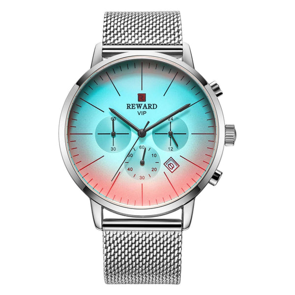 Trendinggate.com Men's Watches White shell white face white belt REWARD elegant casual watch