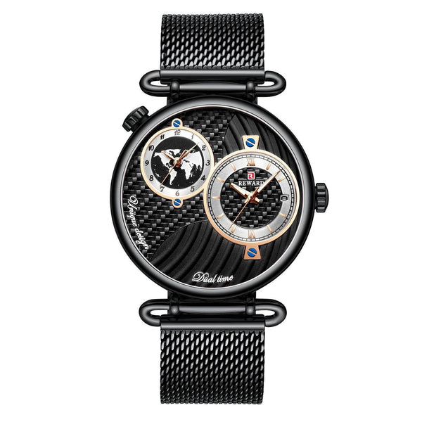 Trendinggate.com Men's Watches Black shell, black face, black belt REWARD multi dial stylish watch for formal events