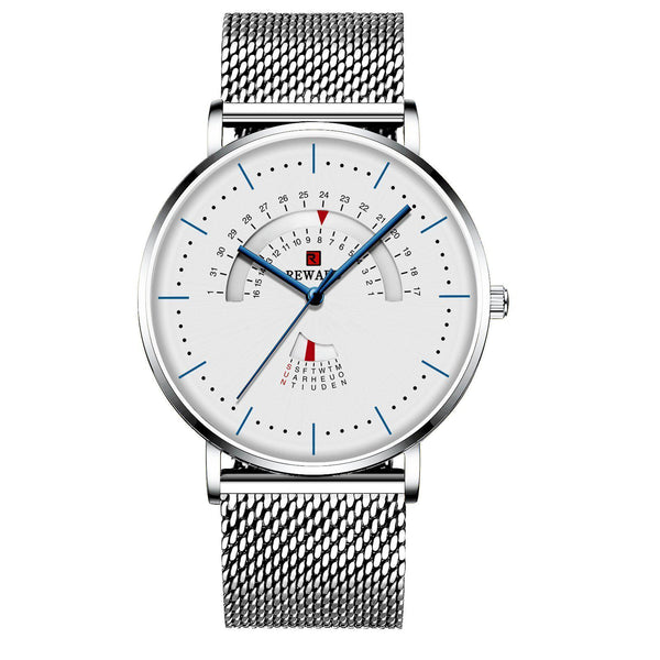 Trendinggate.com Men's Watches White shell and white face leucorrhea REWARD precise movement thin watch elegant and classy for any occasion