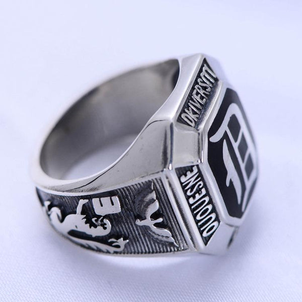 Trendinggate.com S925Sterling silver hand ornaments 1970 university commemorative edition honorary school ring male and female Thai silver ring wholesale