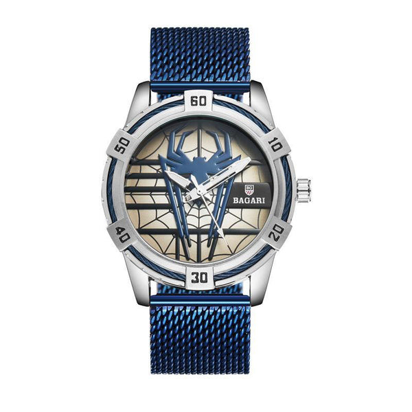 Trendinggate.com Silver shell blue face blue belt shopeeHair on behalf of wish hair on behalf of 2019 new men's Japan imported movement boutique watch spider