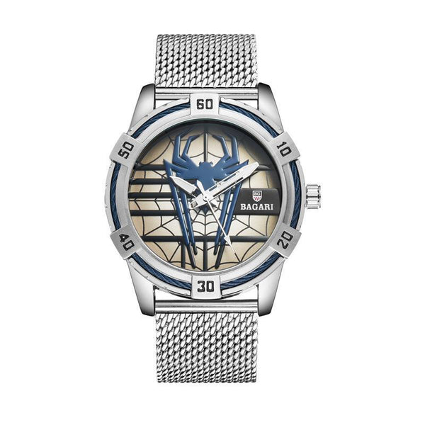 Trendinggate.com Silver shell with blue surface shopeeHair on behalf of wish hair on behalf of 2019 new men's Japan imported movement boutique watch spider