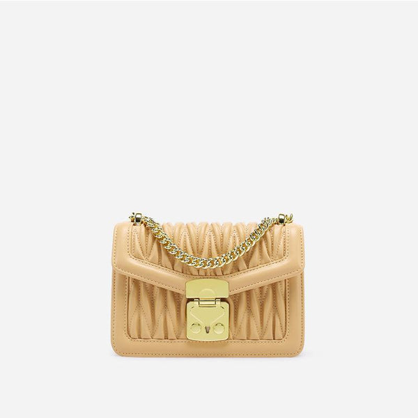 Trendinggate.com goose-yellow Small design bag embroidered chain small square bag 2019 summer new small breeze shoulder slung handbag