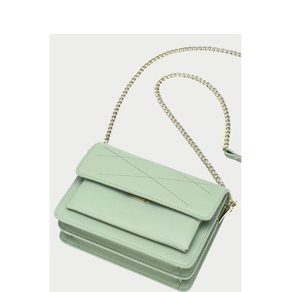 Trendinggate.com Small design leather slung women's bag 2019 new fashion summer chain shoulder bag sewing small square bag generation
