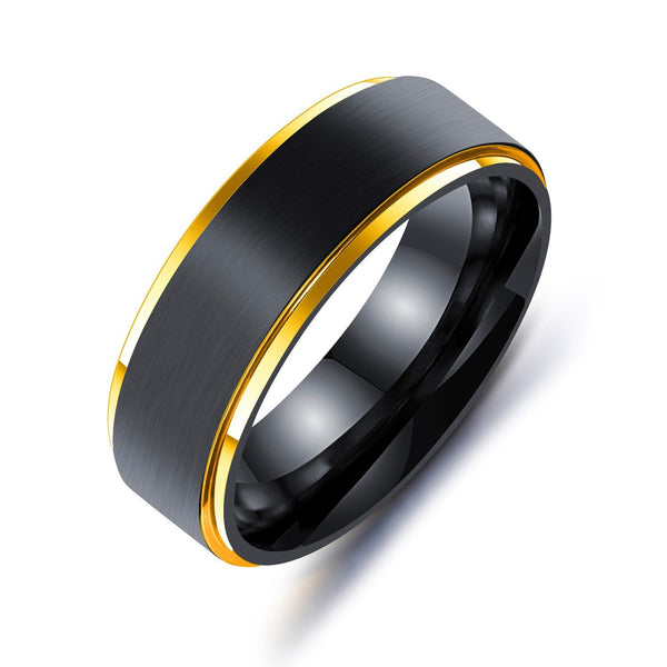 Trendinggate.com Golden / 10No. Stainless steel men's rings for cross-border explosive accessories