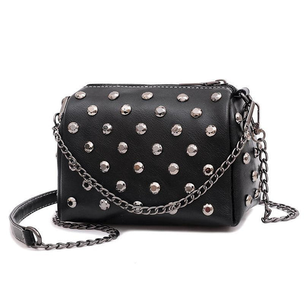 Trendinggate.com black Summer New Ocean Air Net Red Girl Bag Soft Leather Hand-held Slant Bag Chain Small Bag ins Overheated Foreign Trade Bag