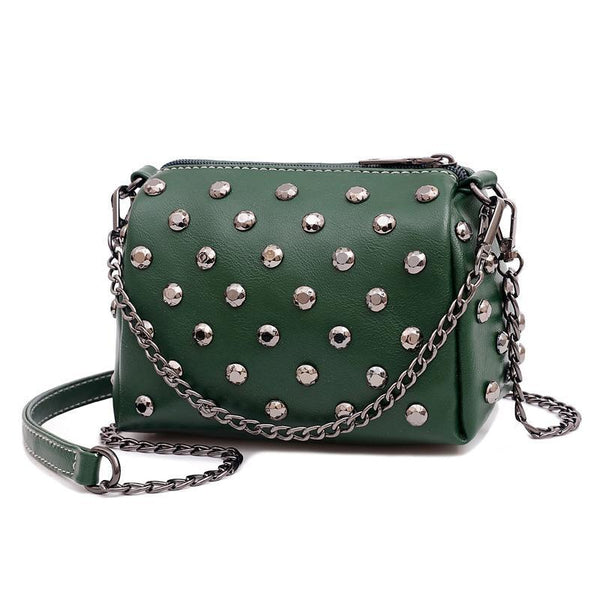 Trendinggate.com green Summer New Ocean Air Net Red Girl Bag Soft Leather Hand-held Slant Bag Chain Small Bag ins Overheated Foreign Trade Bag