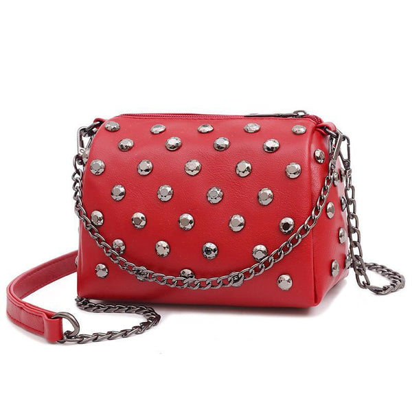 Trendinggate.com gules Summer New Ocean Air Net Red Girl Bag Soft Leather Hand-held Slant Bag Chain Small Bag ins Overheated Foreign Trade Bag