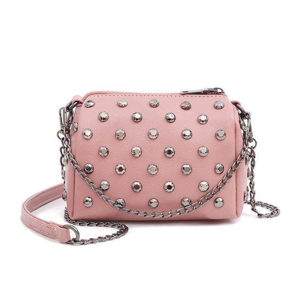 Trendinggate.com Pink Summer New Ocean Air Net Red Girl Bag Soft Leather Hand-held Slant Bag Chain Small Bag ins Overheated Foreign Trade Bag