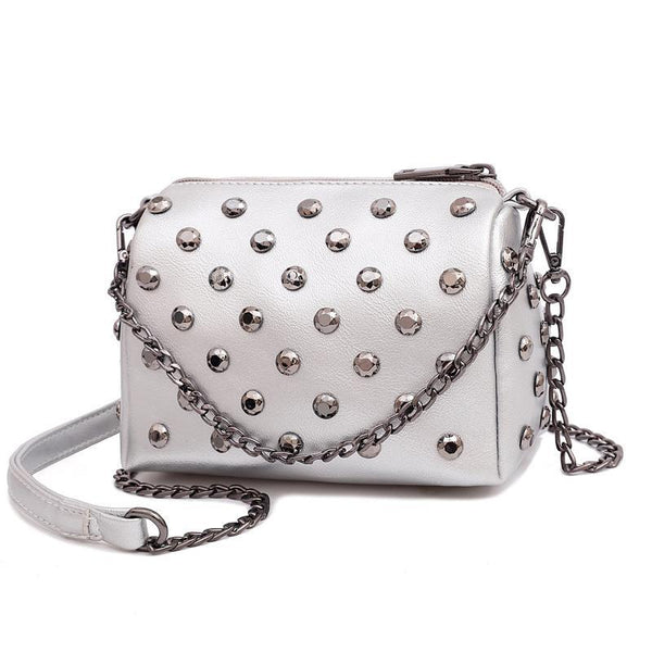 Trendinggate.com Silver grey Summer New Ocean Air Net Red Girl Bag Soft Leather Hand-held Slant Bag Chain Small Bag ins Overheated Foreign Trade Bag