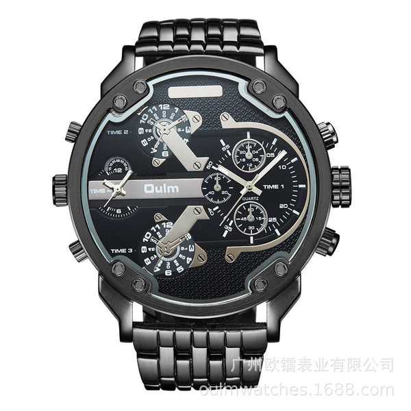 Trendinggate.com black Supplied by European manufacturers/Classic casual personality men's watch/Wholesale of men's watch with alloy in two places ht3548