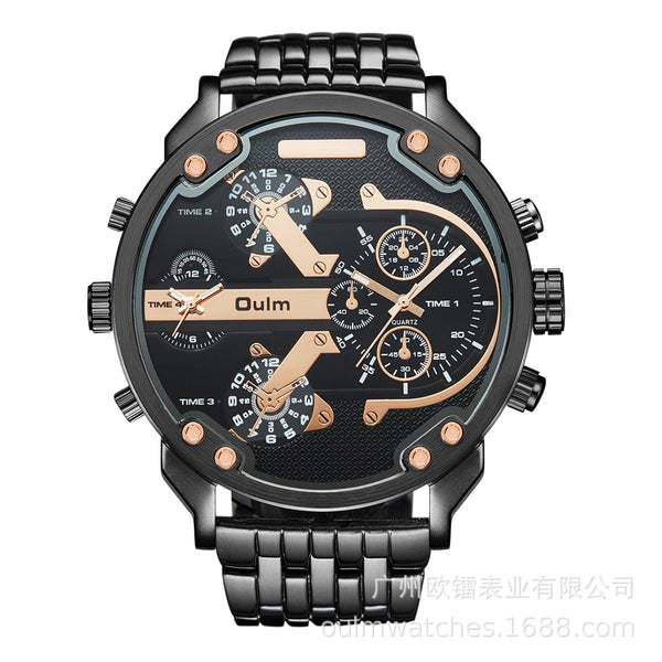 Trendinggate.com Brown Supplied by European manufacturers/Classic casual personality men's watch/Wholesale of men's watch with alloy in two places ht3548