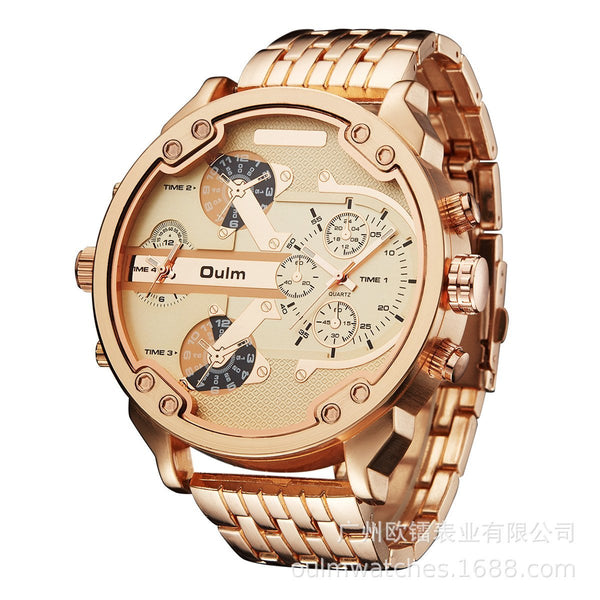 Trendinggate.com Golden Supplied by European manufacturers/Classic casual personality men's watch/Wholesale of men's watch with alloy in two places ht3548