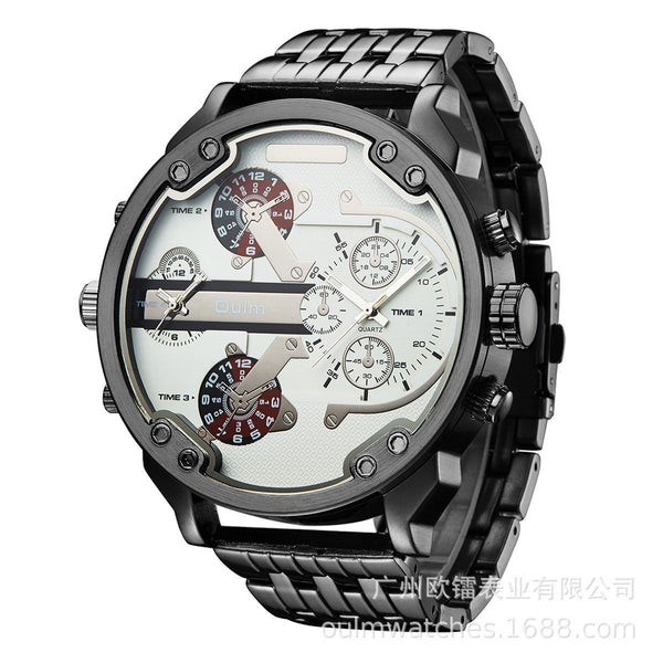 Trendinggate.com white (colour) Supplied by European manufacturers/Classic casual personality men's watch/Wholesale of men's watch with alloy in two places ht3548