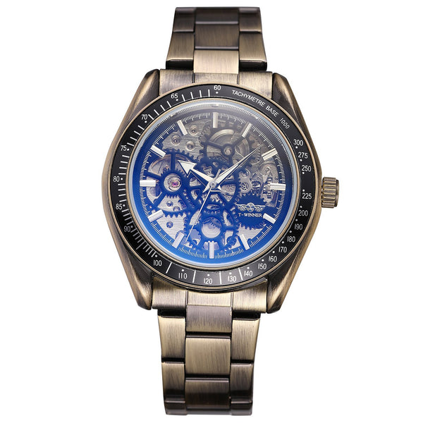 Trendinggate.com Men's Watches Bronze steel strip T-WINNER elegantly designed watch to Show off your refined taste, Perfect for formal events.