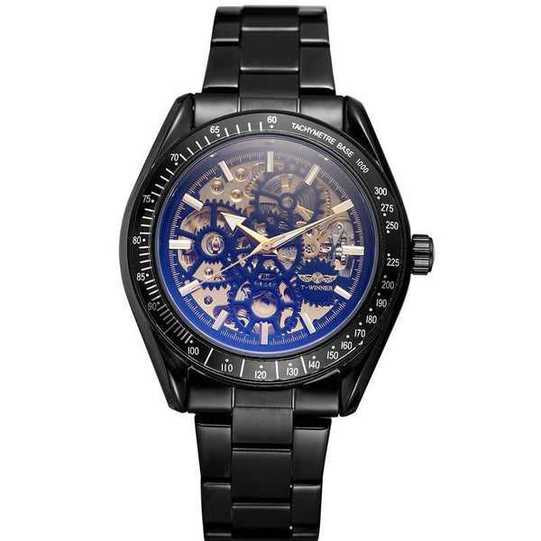 Trendinggate.com Men's Watches Steel strip black T-WINNER elegantly designed watch to Show off your refined taste, Perfect for formal events.