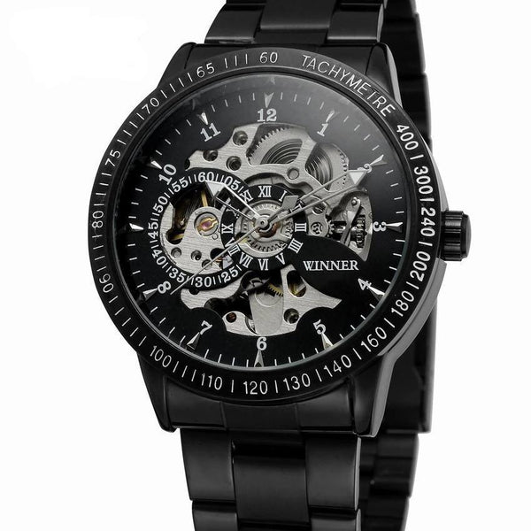 Trendinggate.com Men's Watches T-WINNER silver band creates a precious design and a touch of class