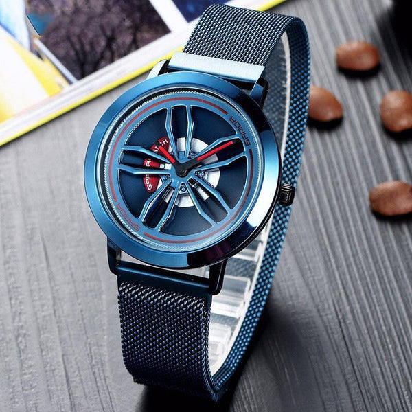 Trendinggate.com Blue shell when running Time-running Watch Male Blue Star Sky 10 Trendy New Concept Shake-tone Nethong Student Waterproof Male Watch