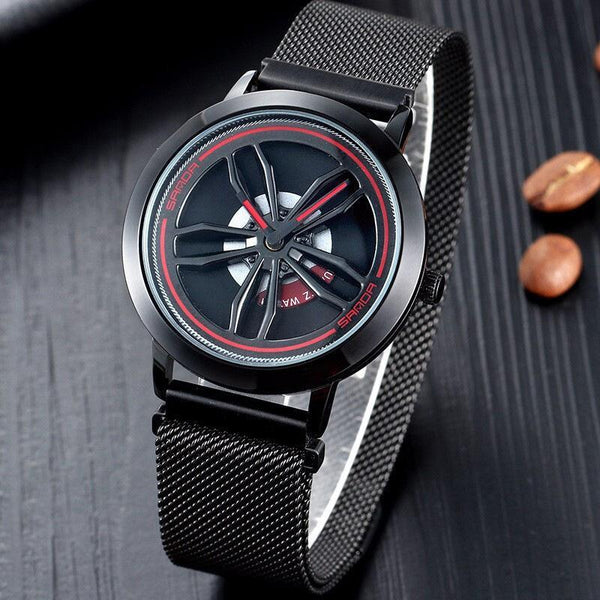 Trendinggate.com The black shell comes and goes. Time-running Watch Male Blue Star Sky 10 Trendy New Concept Shake-tone Nethong Student Waterproof Male Watch