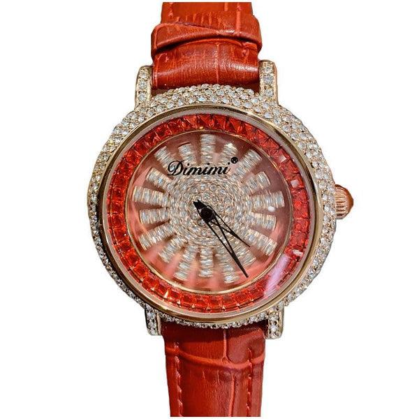 Trendinggate.com Timini trembles the same style of diamond-inlaid wristwatch fashion trend Korean version simple full-drill to run women's watches