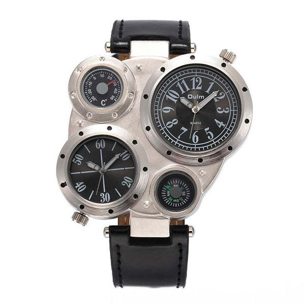 https://detail.1688.com/offer/528793414747.html black Trending Big Watches Men's Leather Compass Japan Movt Quartz Watch