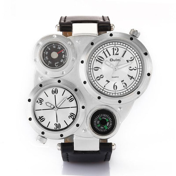 https://detail.1688.com/offer/528793414747.html white Trending Big Watches Men's Leather Compass Japan Movt Quartz Watch