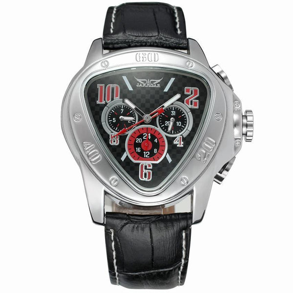 https://detail.1688.com/offer/585554632383.html Black Trending Cross-border hot JARAGAR triangle dial 6-pin calendar fashion men's automatic mechanical watch men's watch