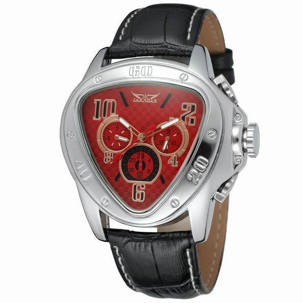 https://detail.1688.com/offer/585554632383.html red Trending Cross-border hot JARAGAR triangle dial 6-pin calendar fashion men's automatic mechanical watch men's watch