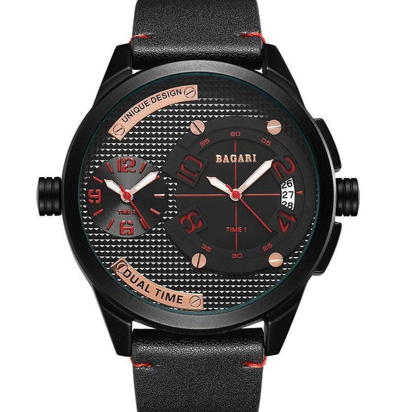 Trendinggate.com Black shell scarlet letter black belt Watch manufacturer direct sale fashion watch 2019wristwatch men dual movement multi-function waterproof watch