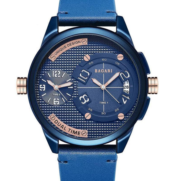 Trendinggate.com Blue shell blue ribbon Watch manufacturer direct sale fashion watch 2019wristwatch men dual movement multi-function waterproof watch