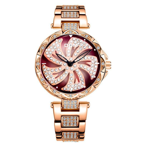 Trendinggate.com Watch Women Swiss Diamond Fashion Waterproof Ladies Watch Quartz to run steel belt watch