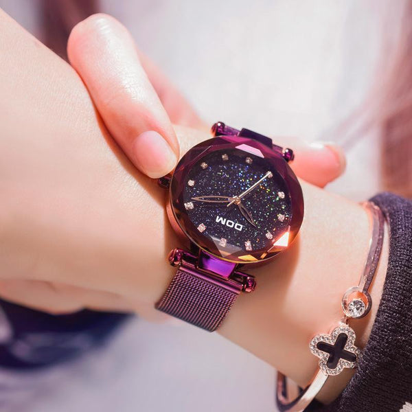 Trendinggate.com watches women Shake the sonic boom waterproof starry sky watch upscale diamond quartz watch ladies watch