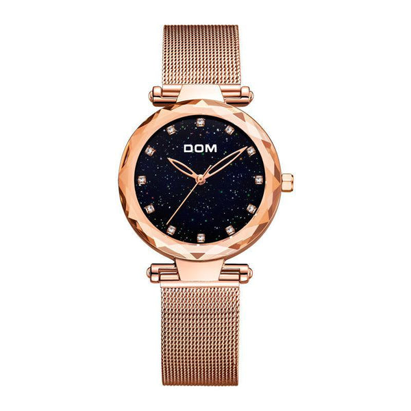 Trendinggate.com golden watches women Shake the sonic boom waterproof starry sky watch upscale diamond quartz watch ladies watch