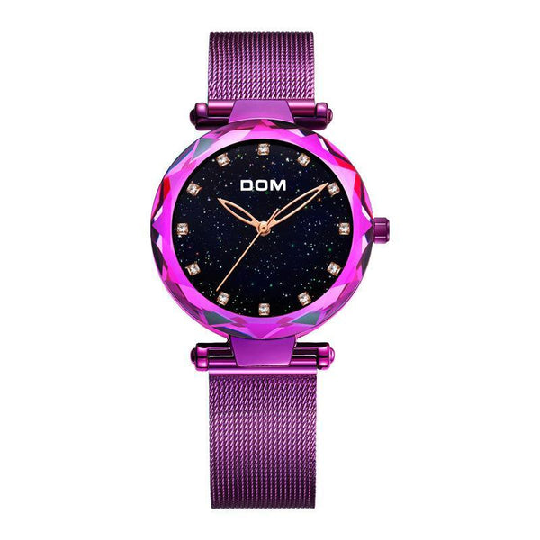 Trendinggate.com Purple watches women Shake the sonic boom waterproof starry sky watch upscale diamond quartz watch ladies watch