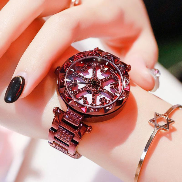 Trendinggate.com Love Purple Steel Strip When the popular style YJ6 comes to run the watch women Douyin, the same network celebrity quartz steel belt women's watch foreign trade source
