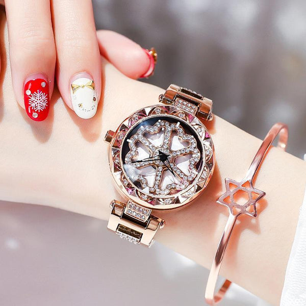 Trendinggate.com Love rose gold steel strip When the popular style YJ6 comes to run the watch women Douyin, the same network celebrity quartz steel belt women's watch foreign trade source
