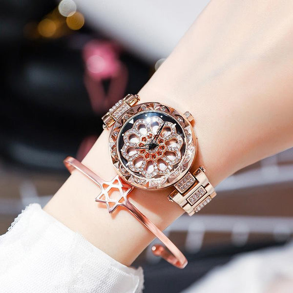 Trendinggate.com Rose gold strip When the popular style YJ6 comes to run the watch women Douyin, the same network celebrity quartz steel belt women's watch foreign trade source