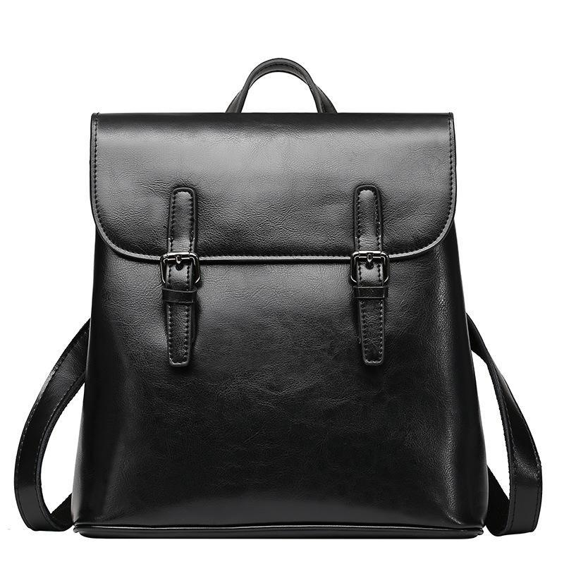 Trendinggate.com Black Wholesale and summer new style genuine leather women's bag, cowhide travel double-shoulder bag, fashion travel backpack, women's bag