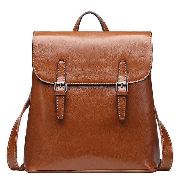 Trendinggate.com Brown Wholesale and summer new style genuine leather women's bag, cowhide travel double-shoulder bag, fashion travel backpack, women's bag